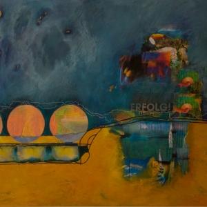 Agua y Sol, 140 x100 cm