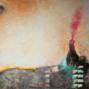 Bergidylle 2, 140 x 100 cm